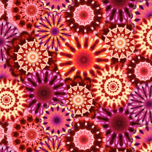 108 Radiance Kaleidoscope Wide Quilt Backing by Blank quilting - Red