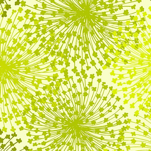 108 Dandelion Dreams Wide Quilt Backing by Kanvas Studio - Chartreuse