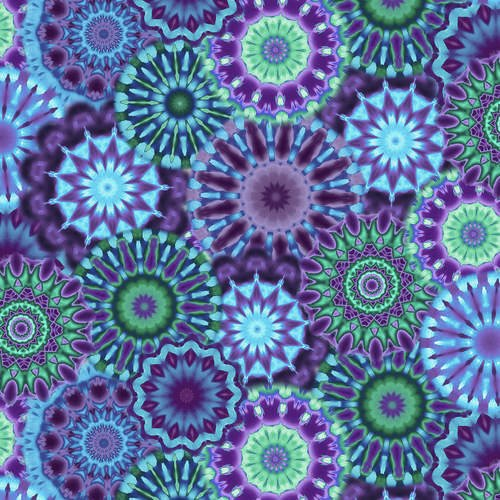 108 Radiance Kaleidoscope Wide Quilt Backing by Blank Quilting - Purple