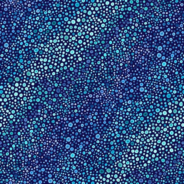 108 Bubble Up Essential Wide Quilt Backing by Wilmington Prints - Blue