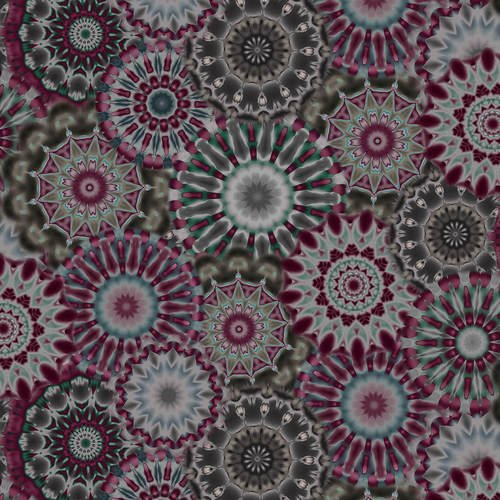 108 Radiance Kaleidoscope Wide Quilt Backing by Blank Quilting - Charcoal