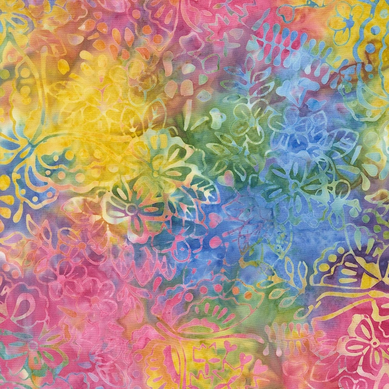 106 Awaken Extra Wide Tonga Batik Quilt Backing - Dazzle