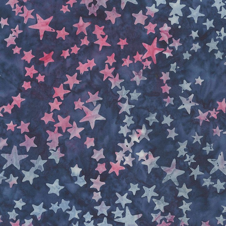 106 Stars Extra Wide Tonga Batik Quilt Backing -Navy