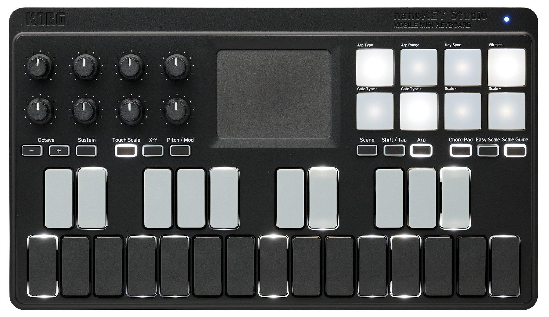 Korg nanoKEY Studio Bluetooth/USB MIDI and Pad Controller