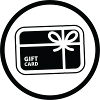 Black Gift Card icon in circle