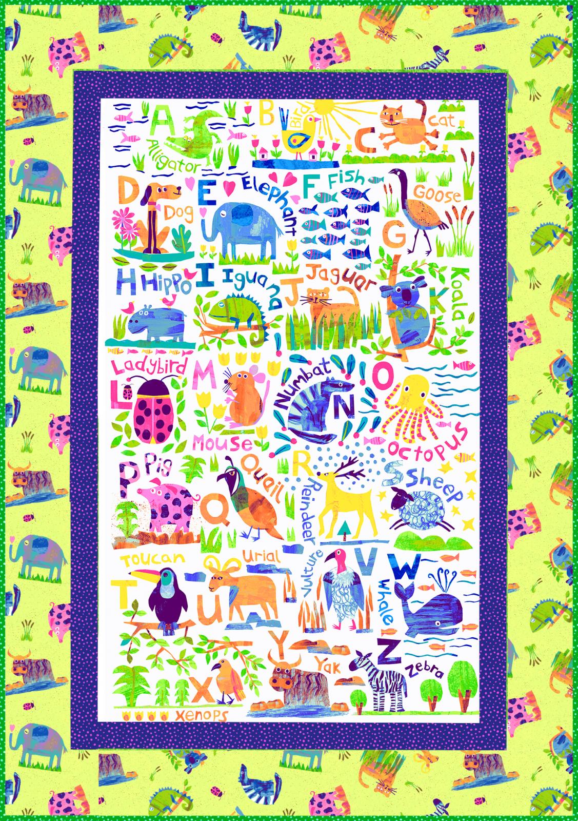 Animal Magic Quilt / Wall Hanging Kit (35 x 55)