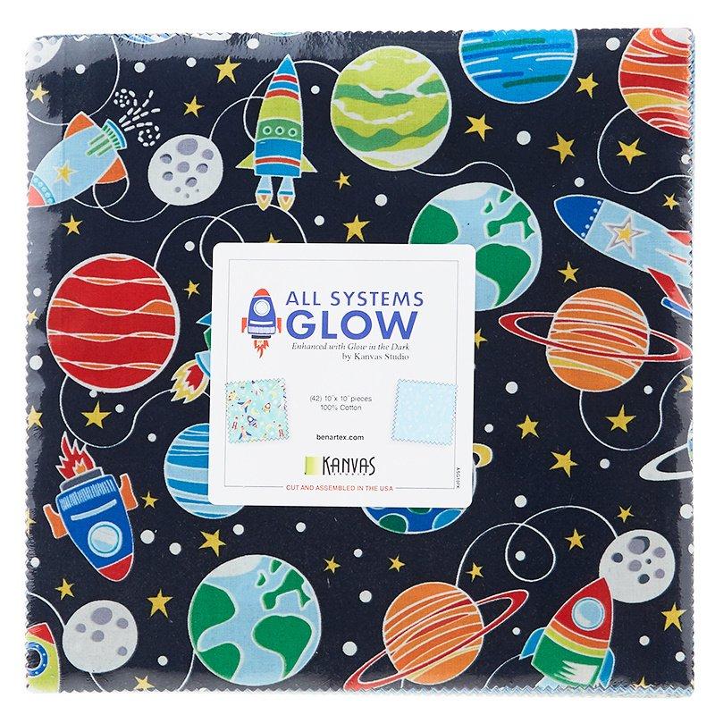 All Systems Glow 10 Squares | Benartex SKU# ASG10PK