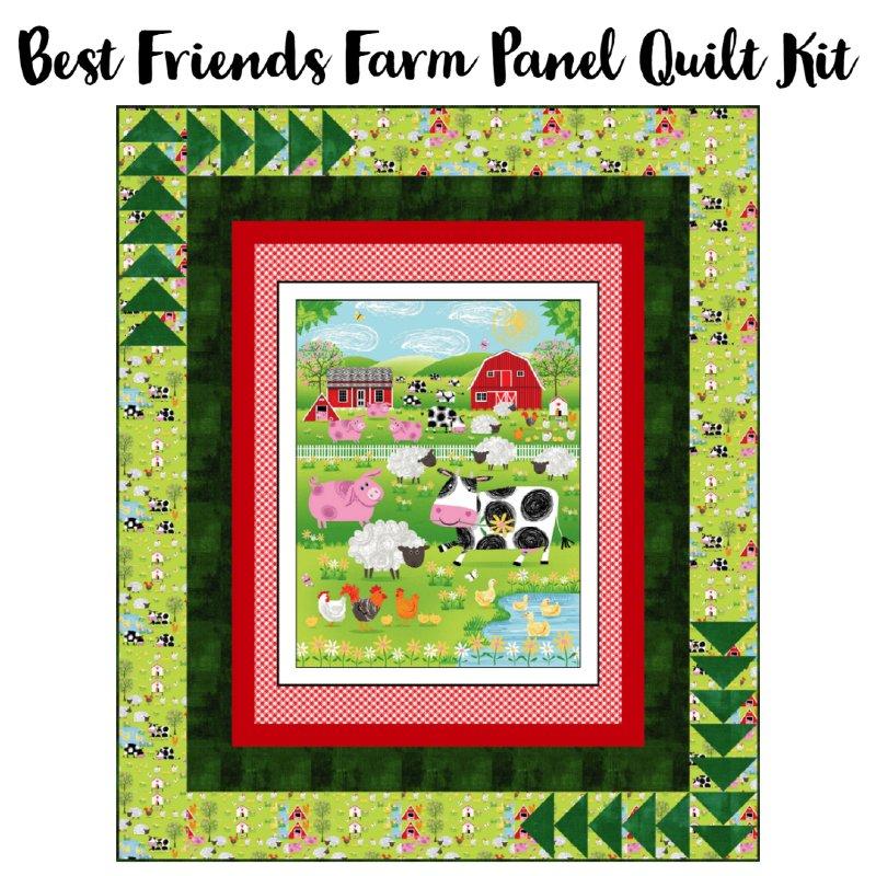 Best Friends Farm Panel Quilt Kit (56 x 68)