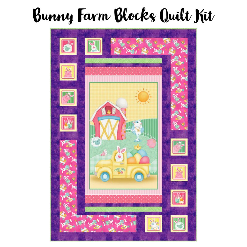 Bunny Farm Blocks Quilt Kit (41.5 x 61)