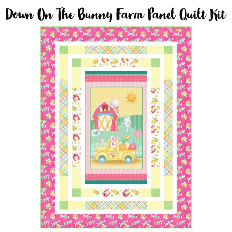 Down on the Bunny Farm Panel Quilt Kit (53.5 x 71.5)