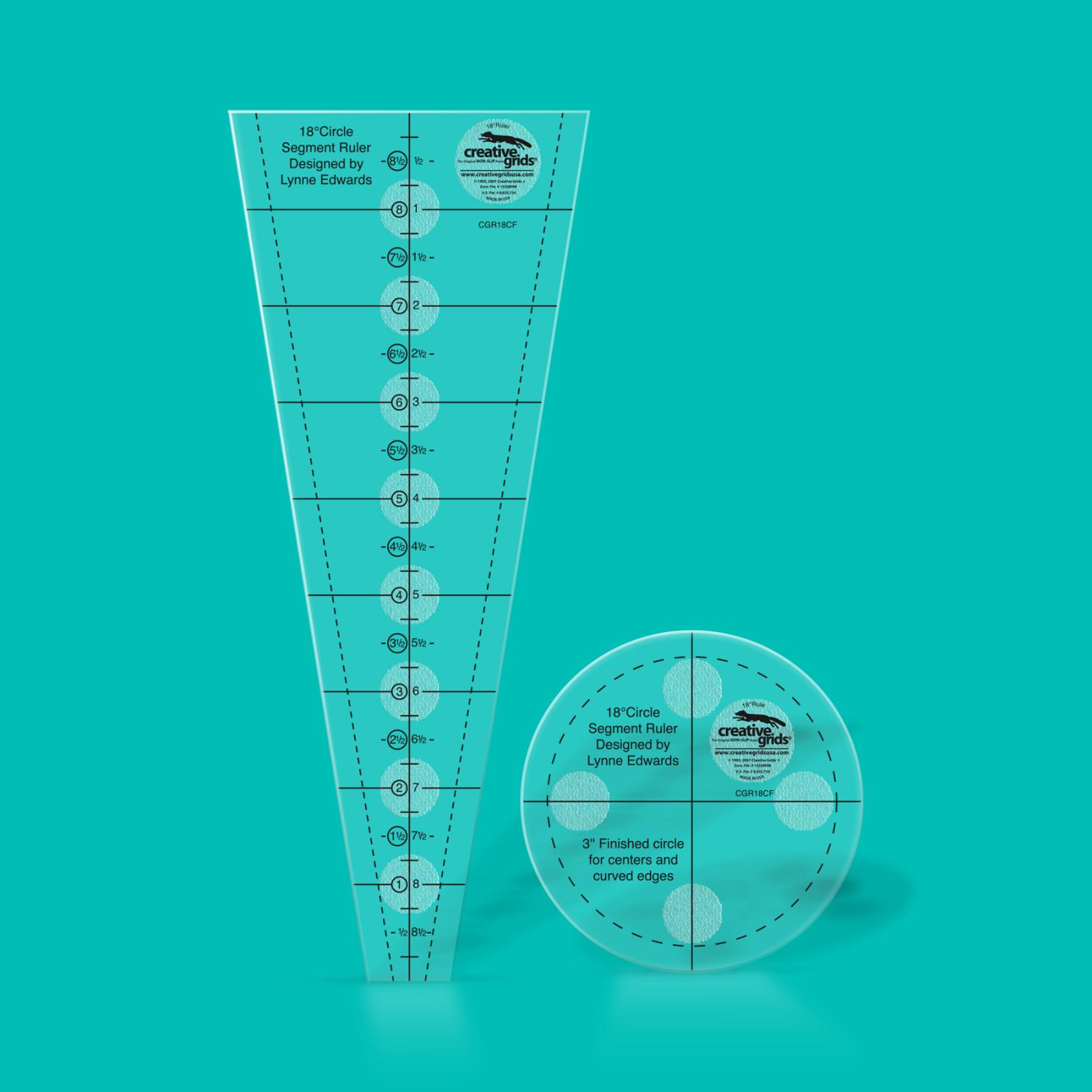 Creative Grids 18 Degree Circle & Fan Ruler Set | SKU# CGR18CF