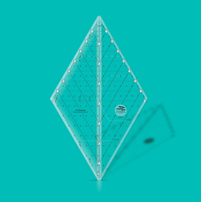 Creative Grids 60 Degree Diamond Ruler | SKU# CGR60DIA