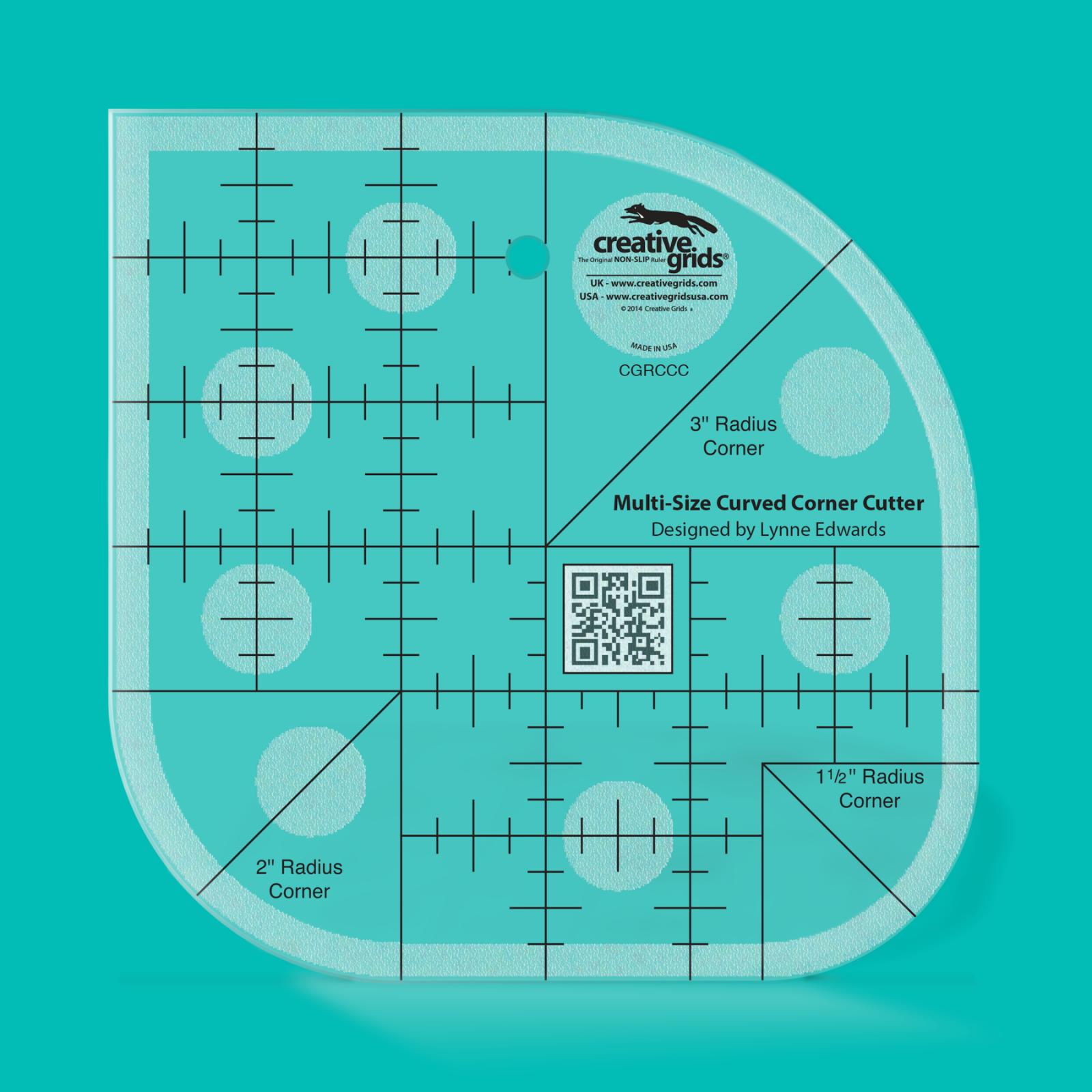 Creative Grids Curved Corner Cutter Ruler | SKU# CGRCCC
