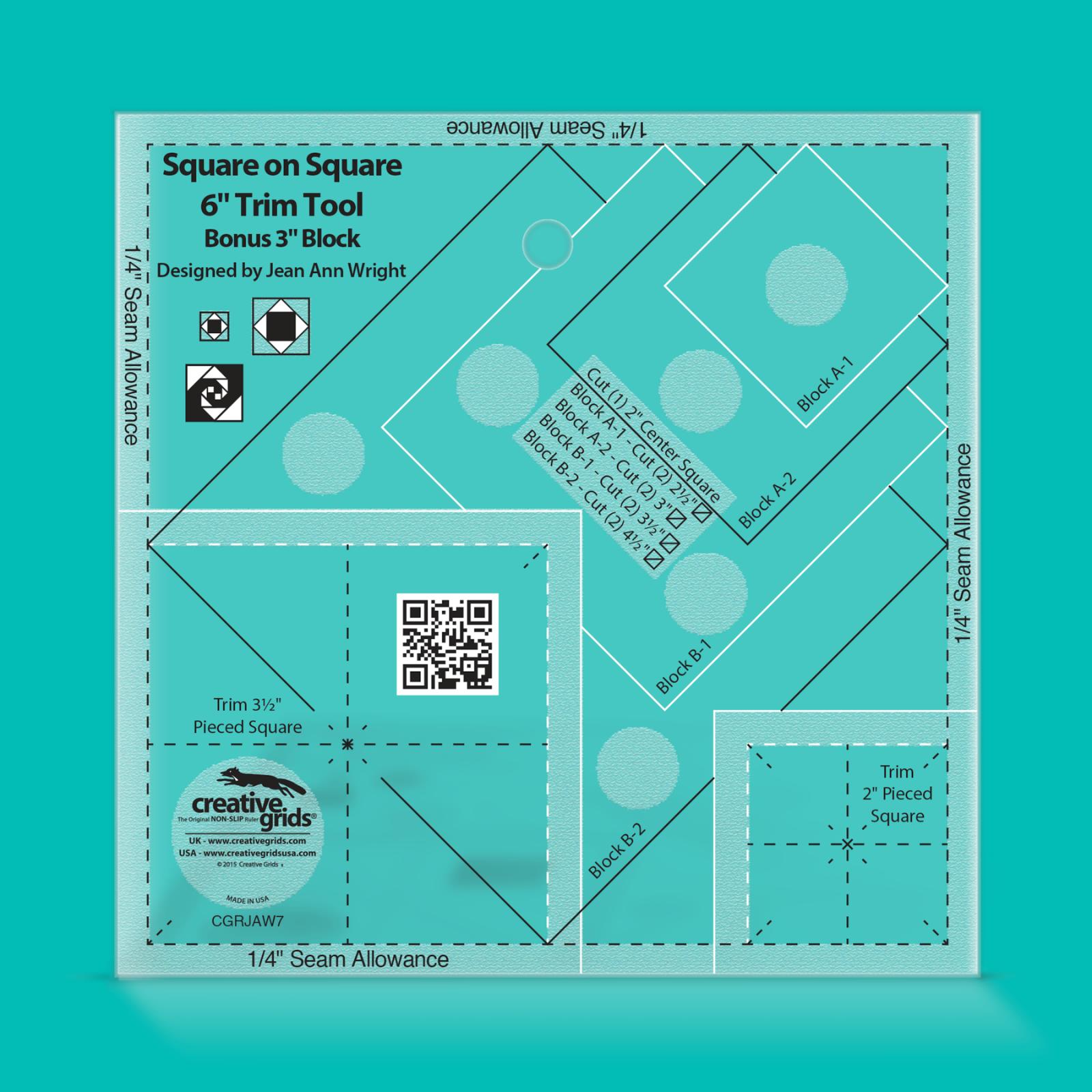 Creative Grids 3 & 6 Square on Square Trim Tool   SKU# CGRJAW7