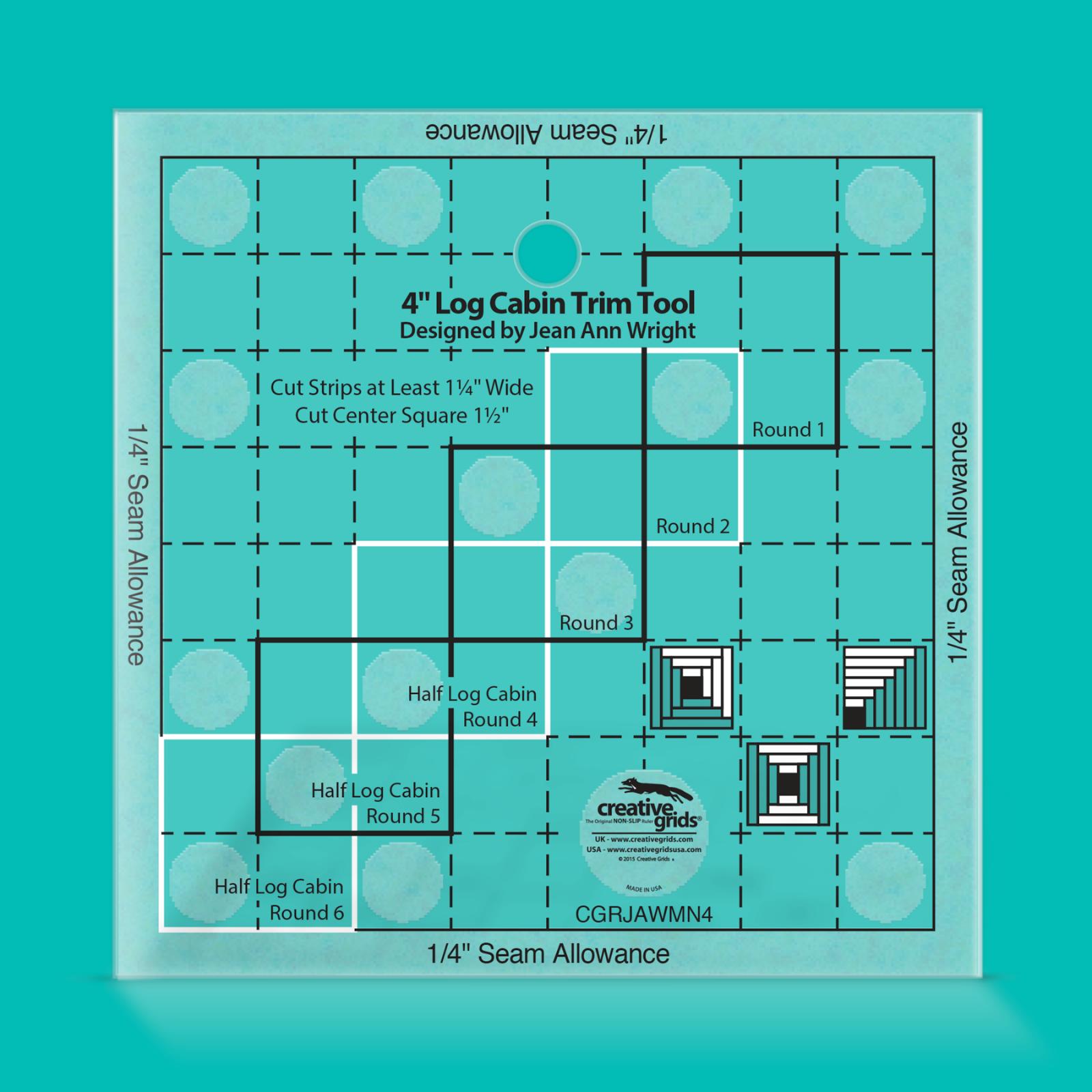 Creative Grids 4 Log Cabin Trim Tool | SKU# CGRJAWMN4