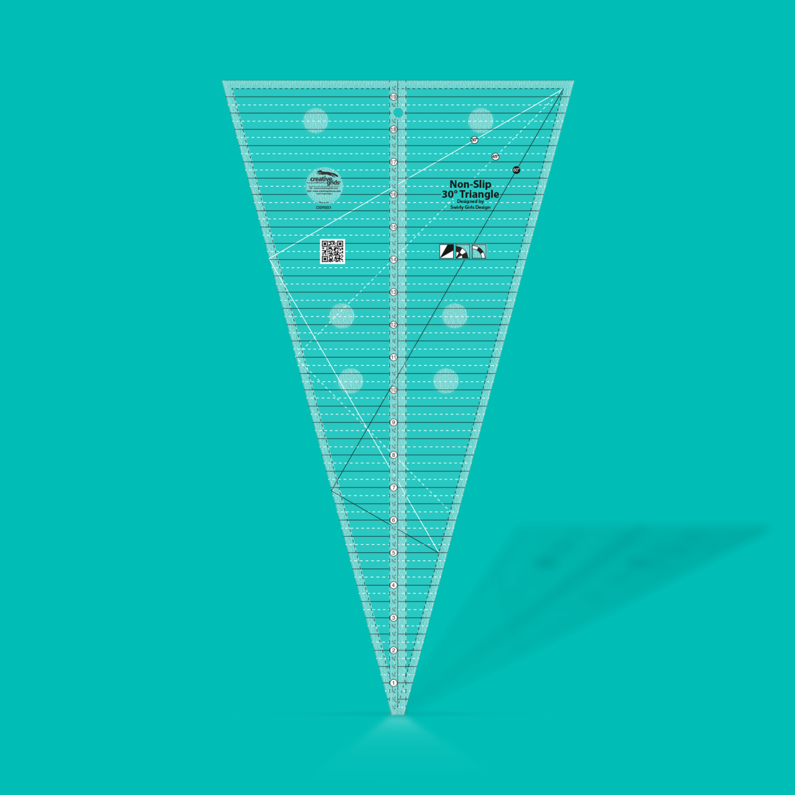 Creative Grids 30 Degree Triangle Ruler   SKU# CGRSG1