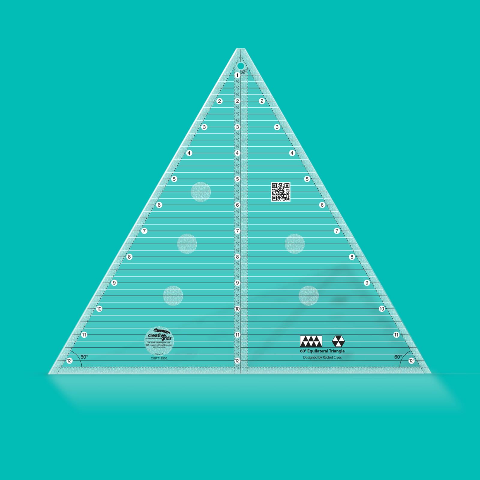Creative Grids 60 Degree Triangle Ruler 12.5 | SKU# CGRT12560