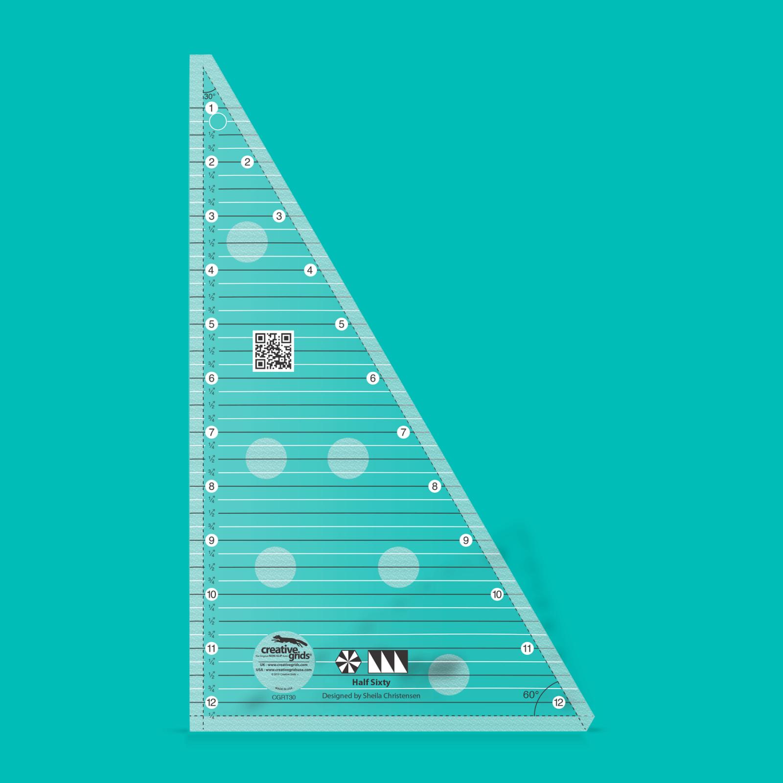 Creative Grids Half Sixty Triangle Ruler | SKU# CGRT30