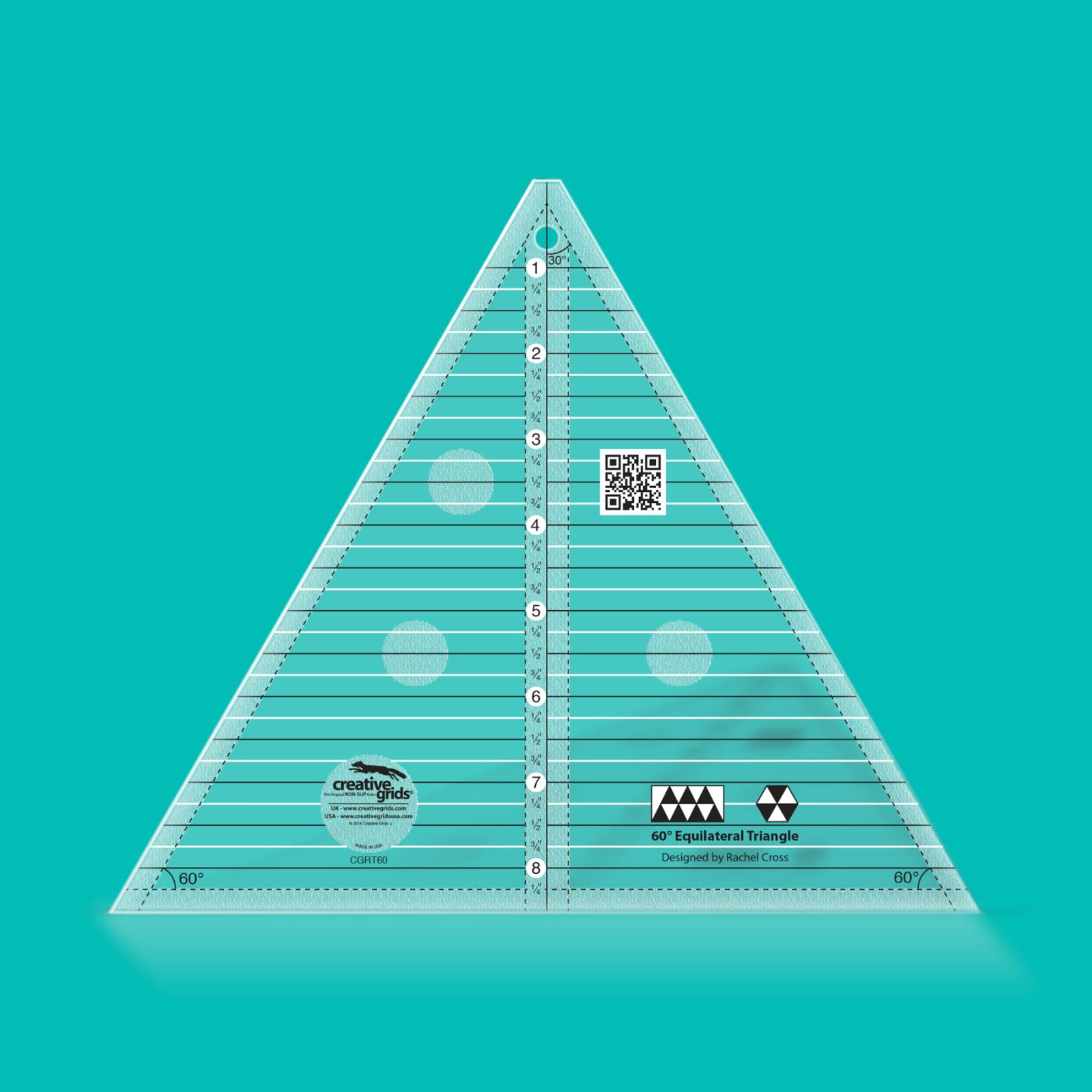 Creative Grids 60 Degree 8.5 Triangle Template | SKU# CGRT60