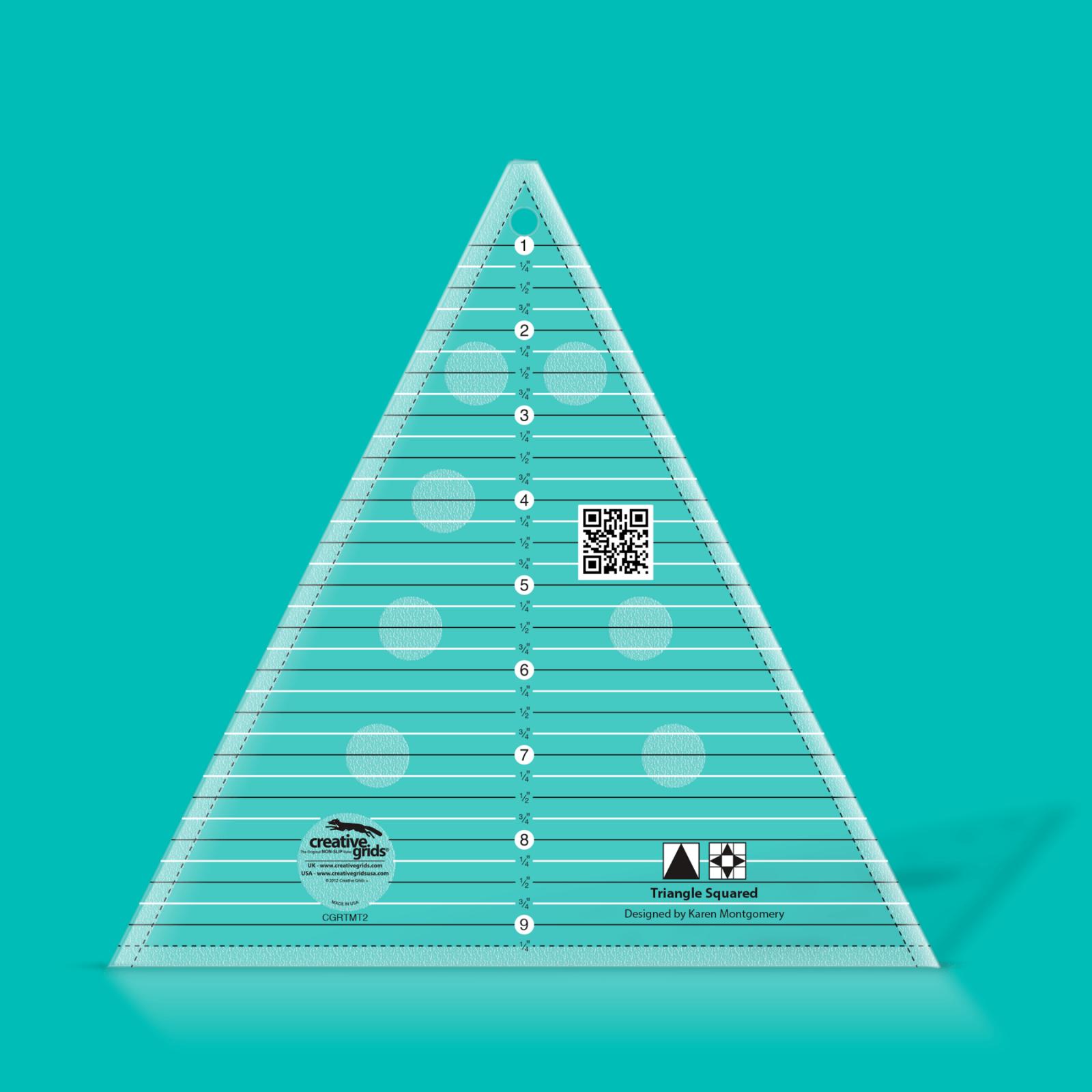 Creative Grids 9.5 Triangle Squared Ruler   SKU# CGRTMT2