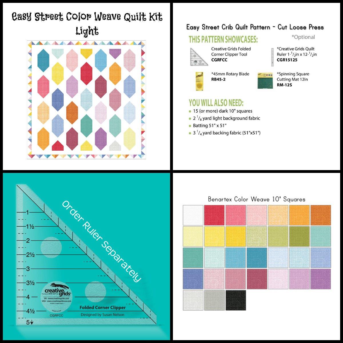 Easy Street Color Weave Quilt Kit (45 x 45) -- Light