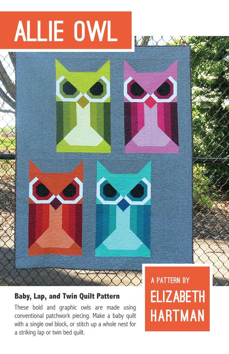 Allie Owl Quilt Pattern -- Elizabeth Hartman