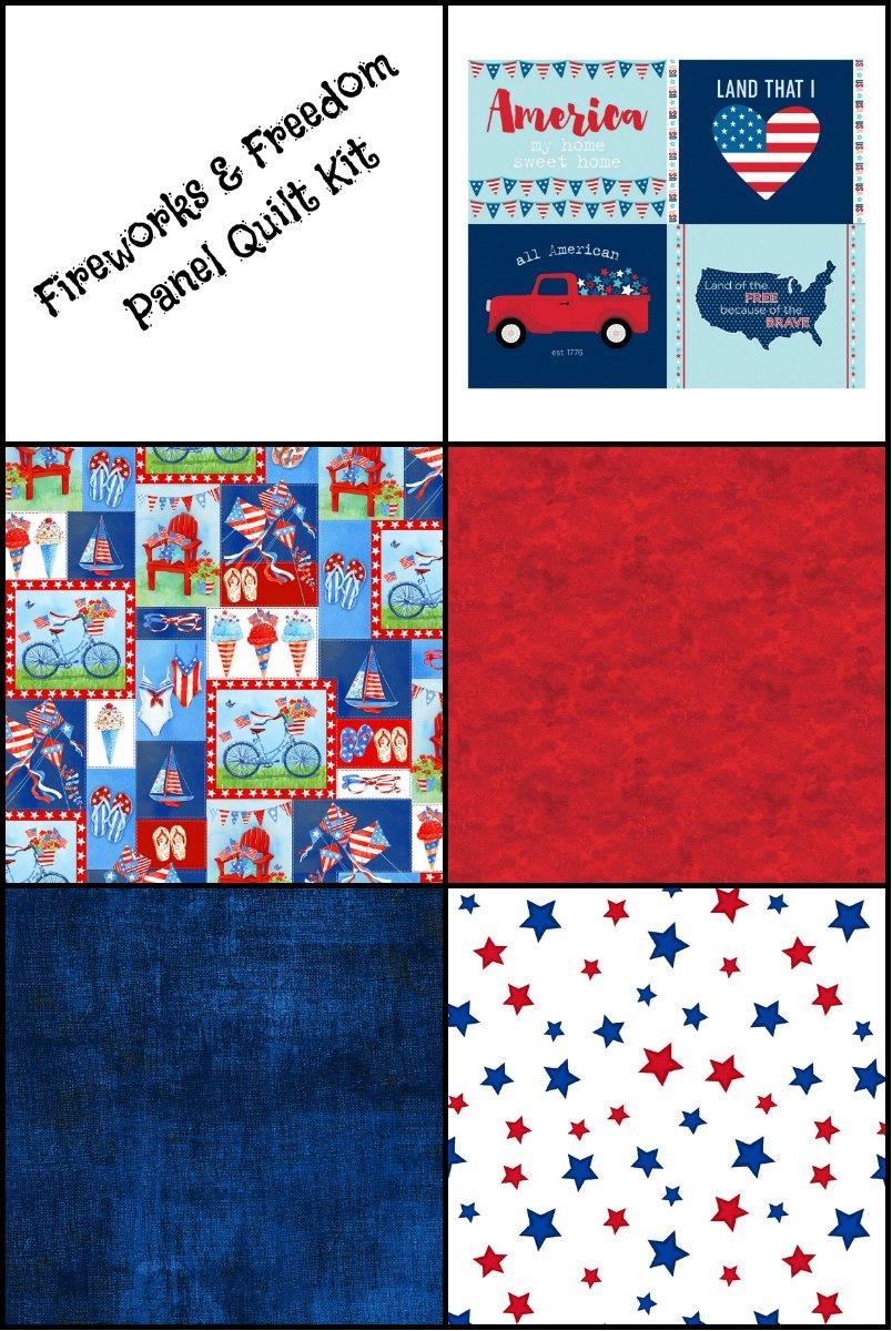 Fireworks & Freedom Panel Quilt Kit (61 x 51)