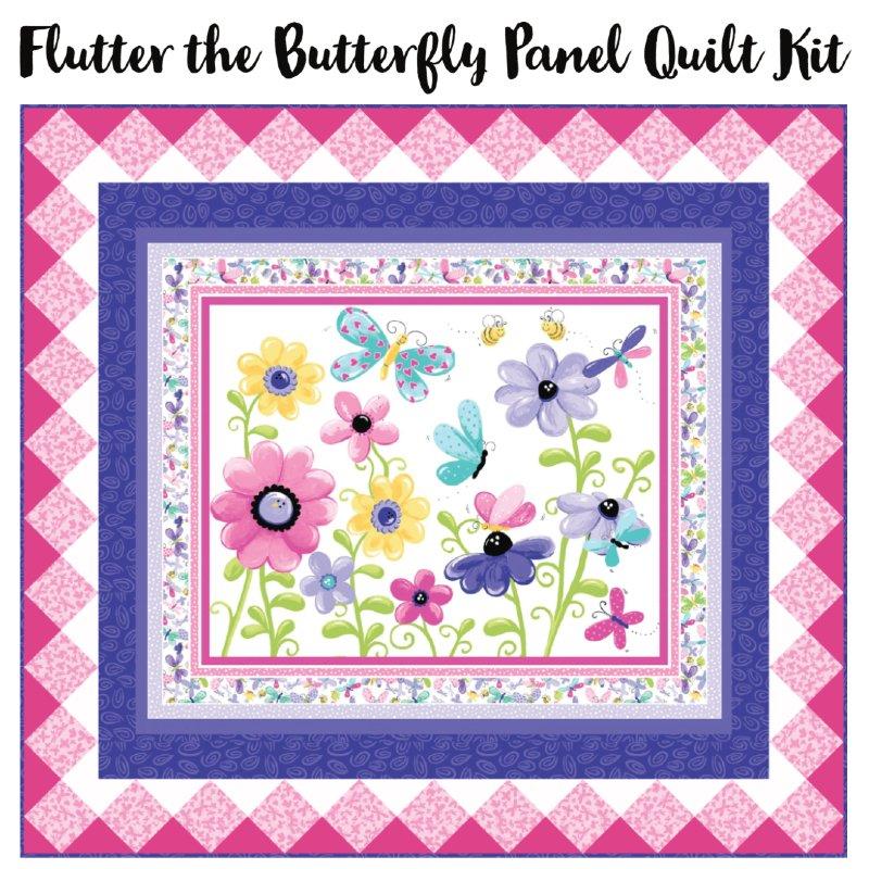 Flutter the Butterfly Panel Quilt Kit (55.5 x 50.5)