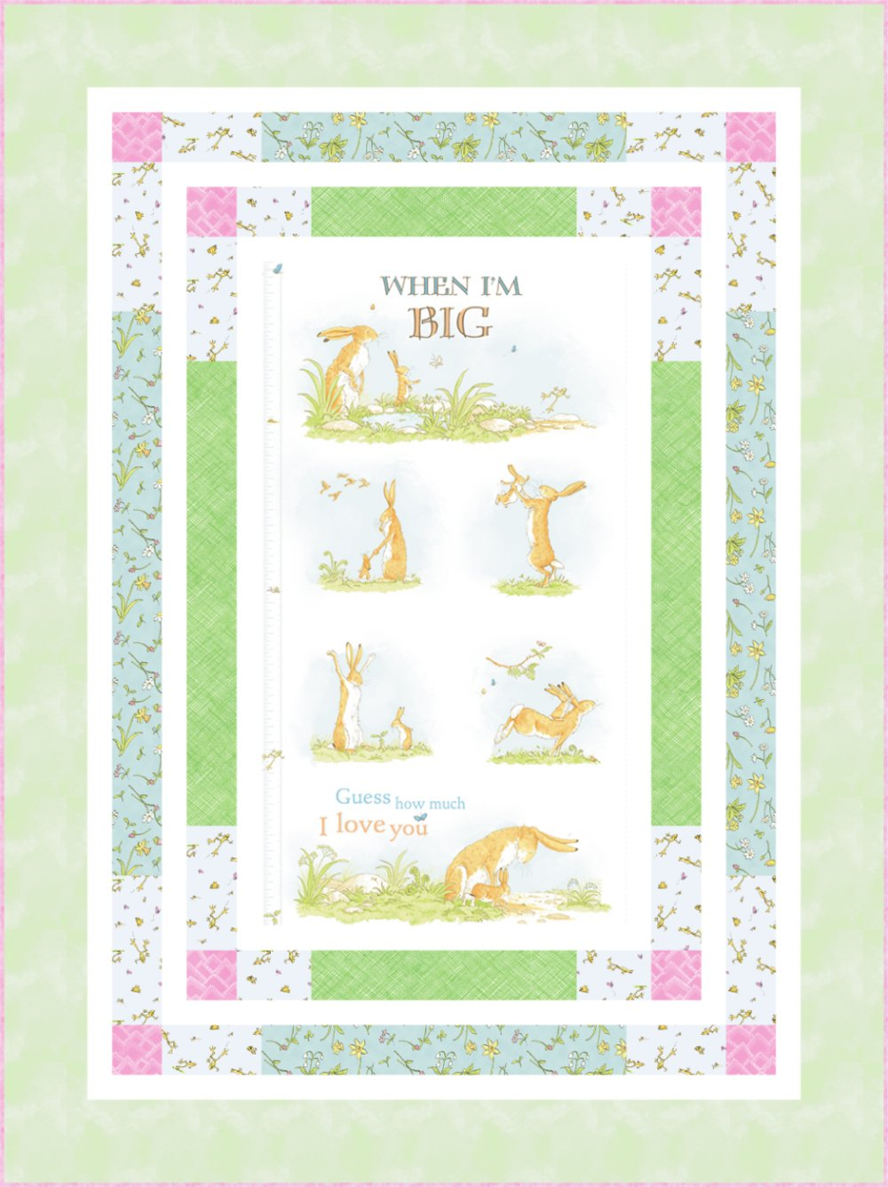 When I'm Big Panel Quilt Kit (53.5 x 71.5) - Green