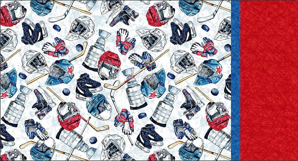 Roll & Sew Pillowcase Kit - Ice Hockey Equipment #1