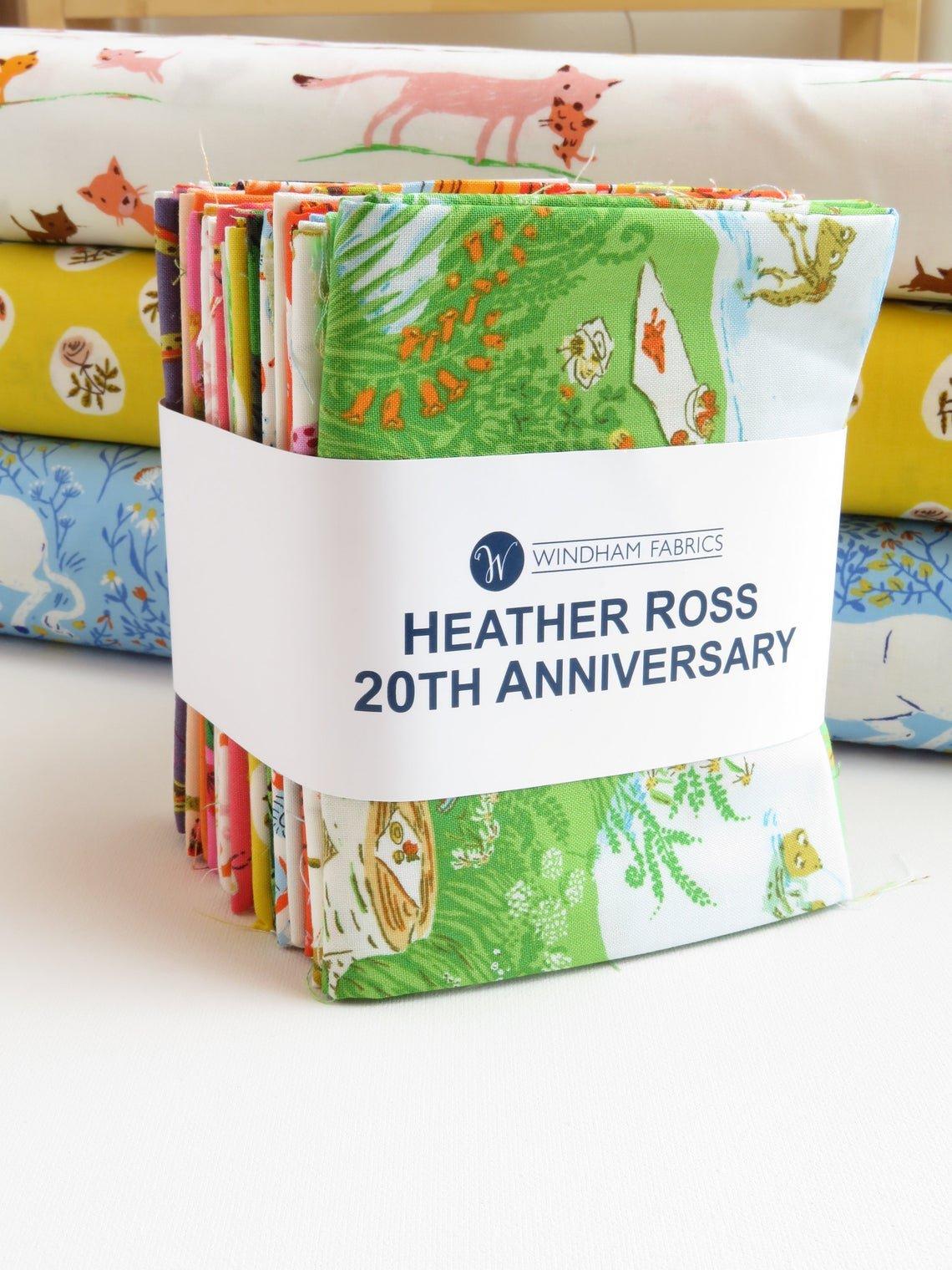 Heather Ross 20th Anniversary Fat Quarter Bundle - 21 pcs | Windham Fabrics SKU# H20FATQ