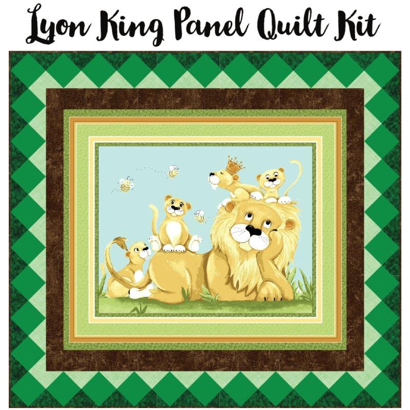 Lyon King Panel Quilt Kit (55.5 x 50.5)