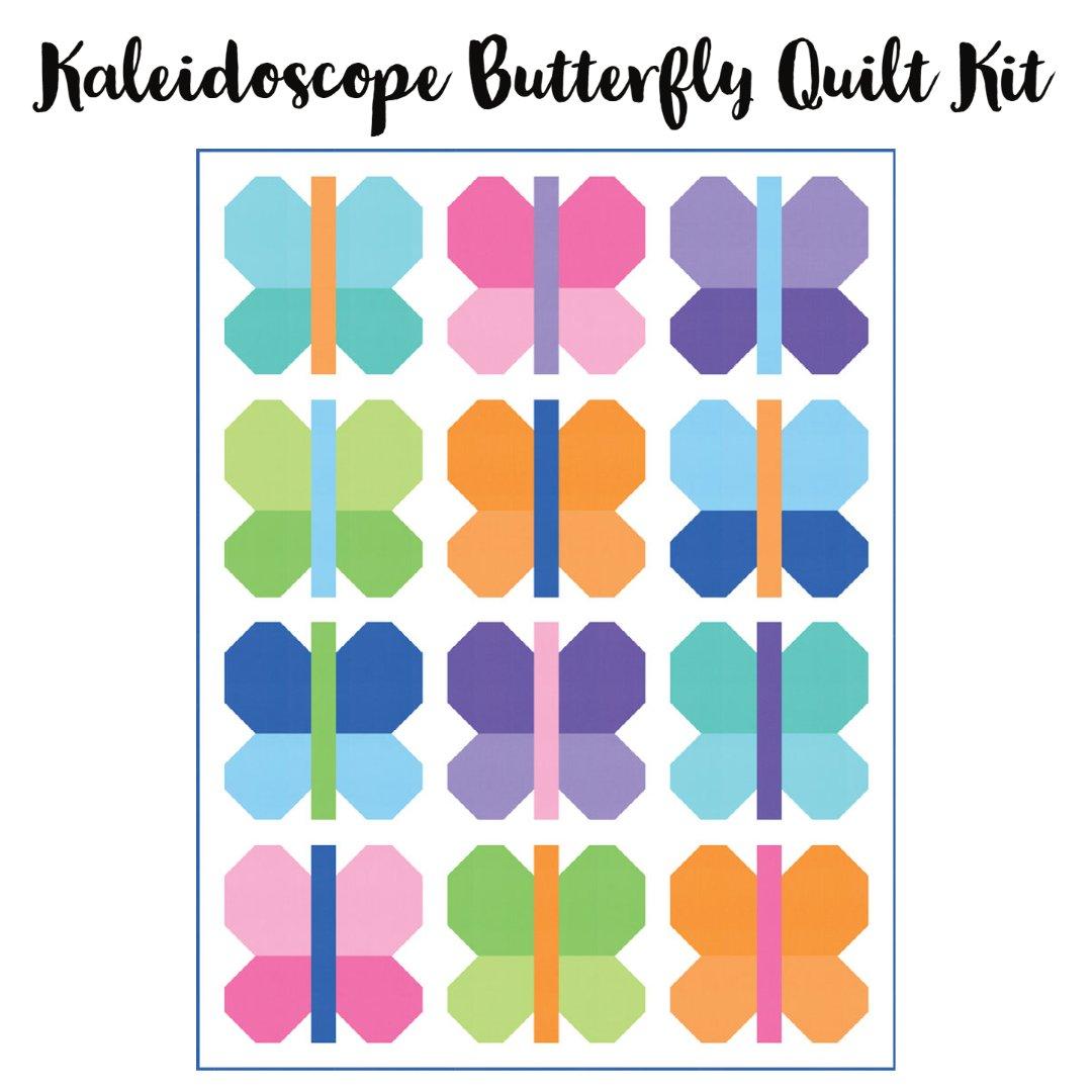Kaleidoscope Butterfly Quilt Kit (56 x 74)