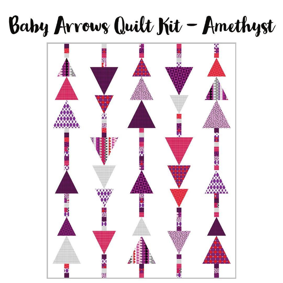 Baby Arrows Quilt Kit (40 x 50) - Amethyst