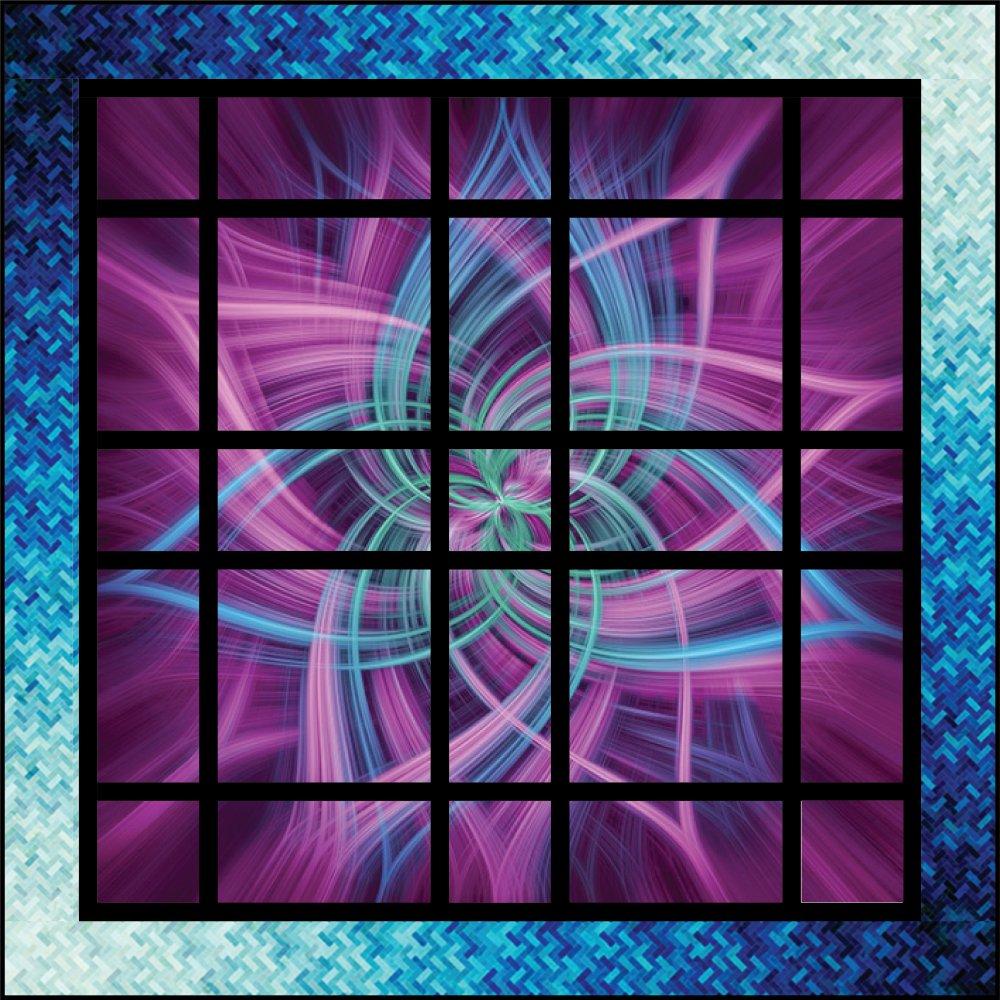 Nebula Aurora Panel Quilt Kit (54 x 54)