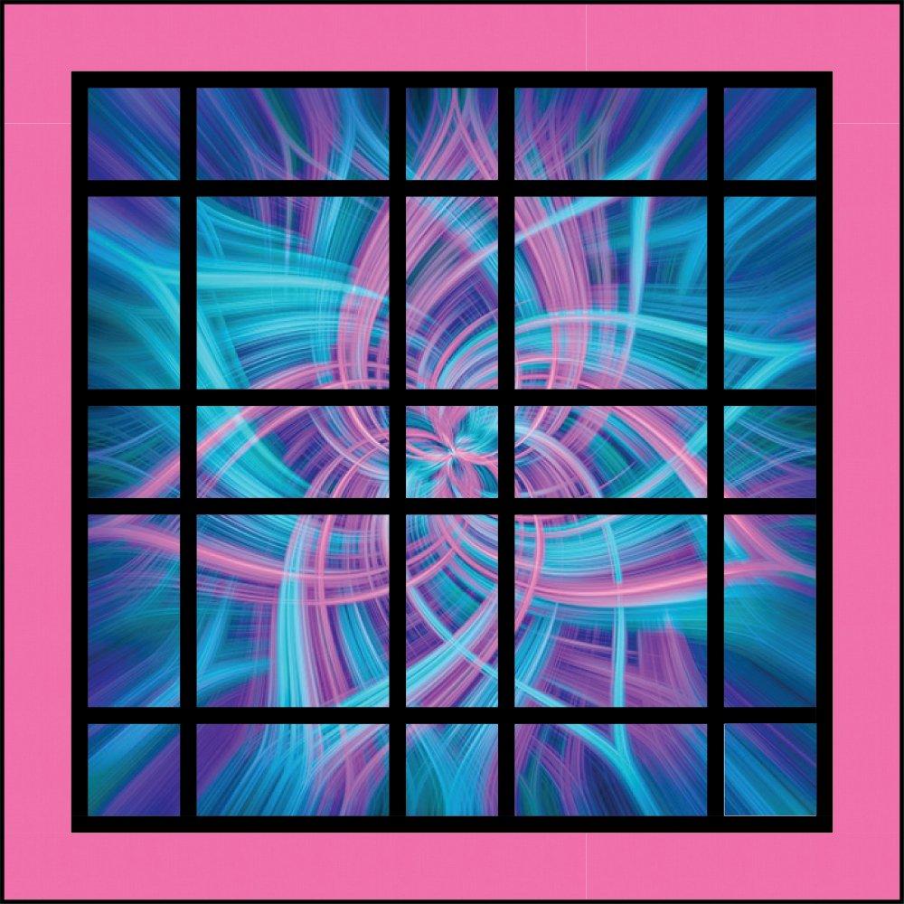 Nebula Blue Hawaiian Panel Quilt Kit (54 x 54)