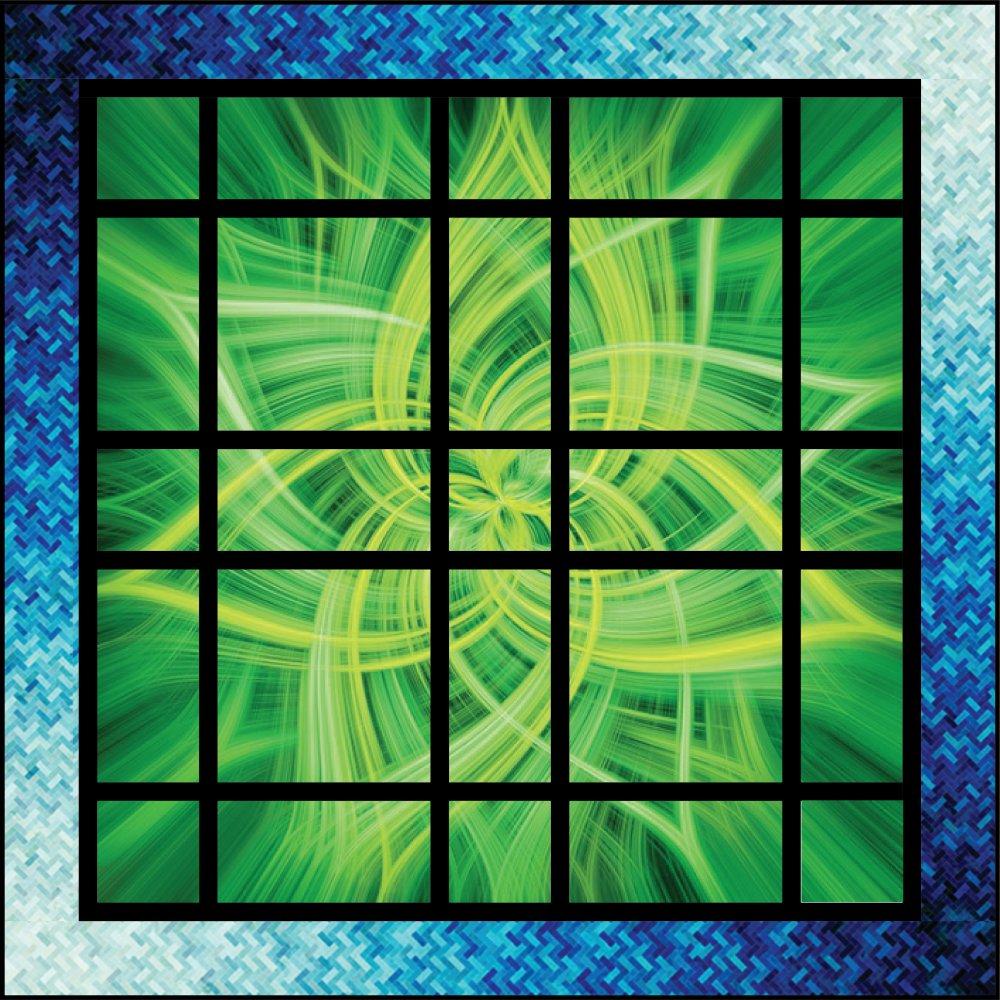 Nebula Lime Panel Quilt Kit (54 x 54)