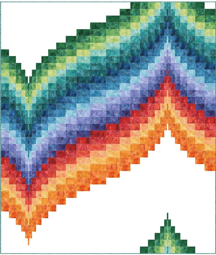 Cosmic Wave Quilt Pattern