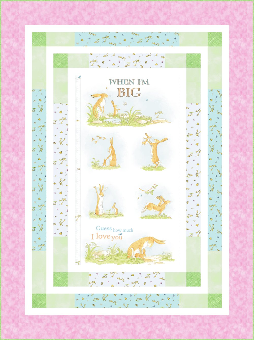 When I'm Big Panel Quilt Kit (53.5 x 71.5) - Pink