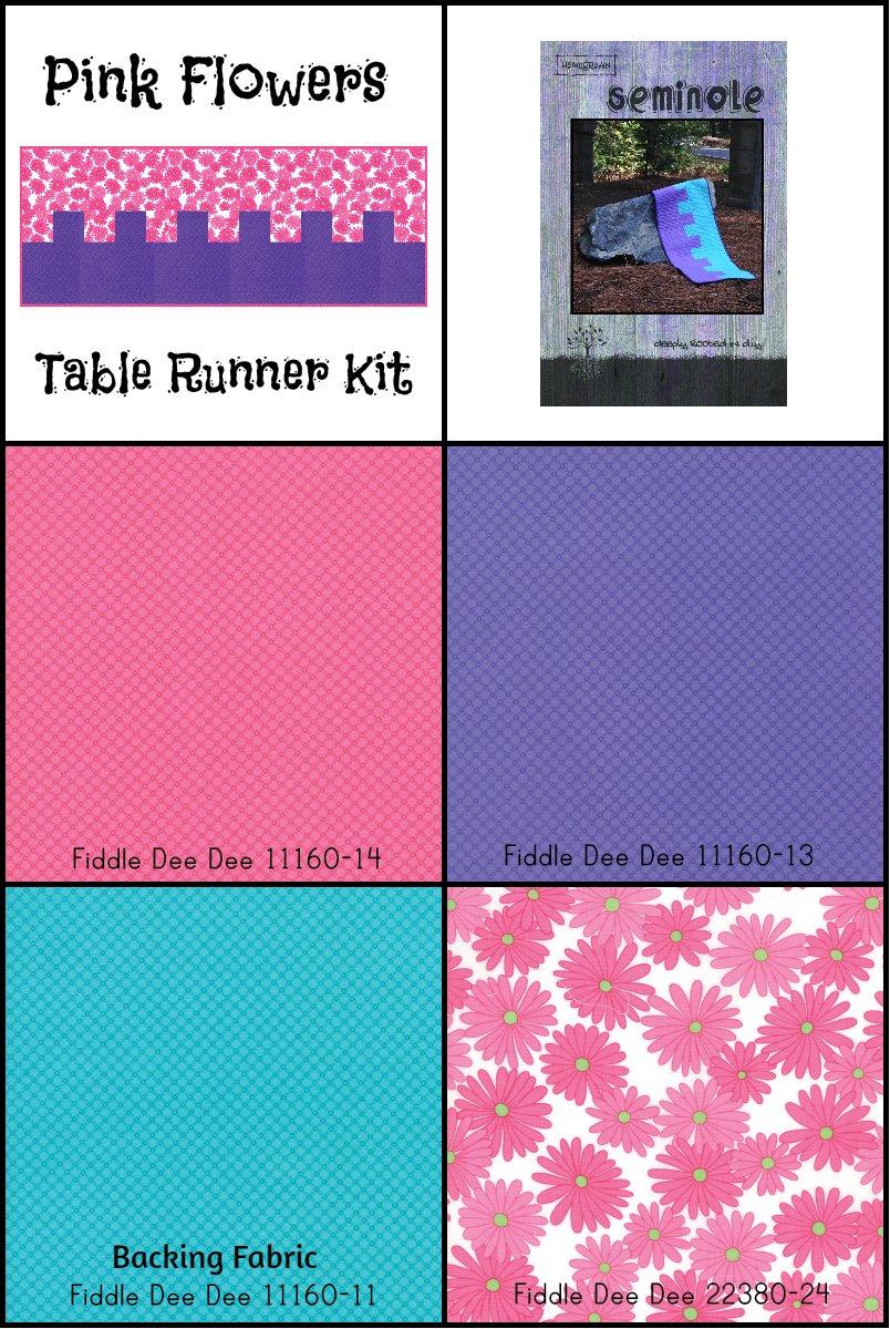 Pink Flowers Table Runner Kit (20 x 50)