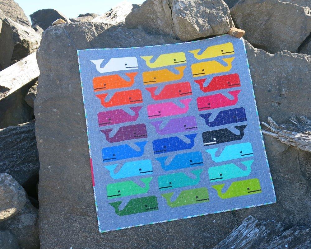 Preppy the Whale quilt pattern by Elizabeth Hartman EH 014