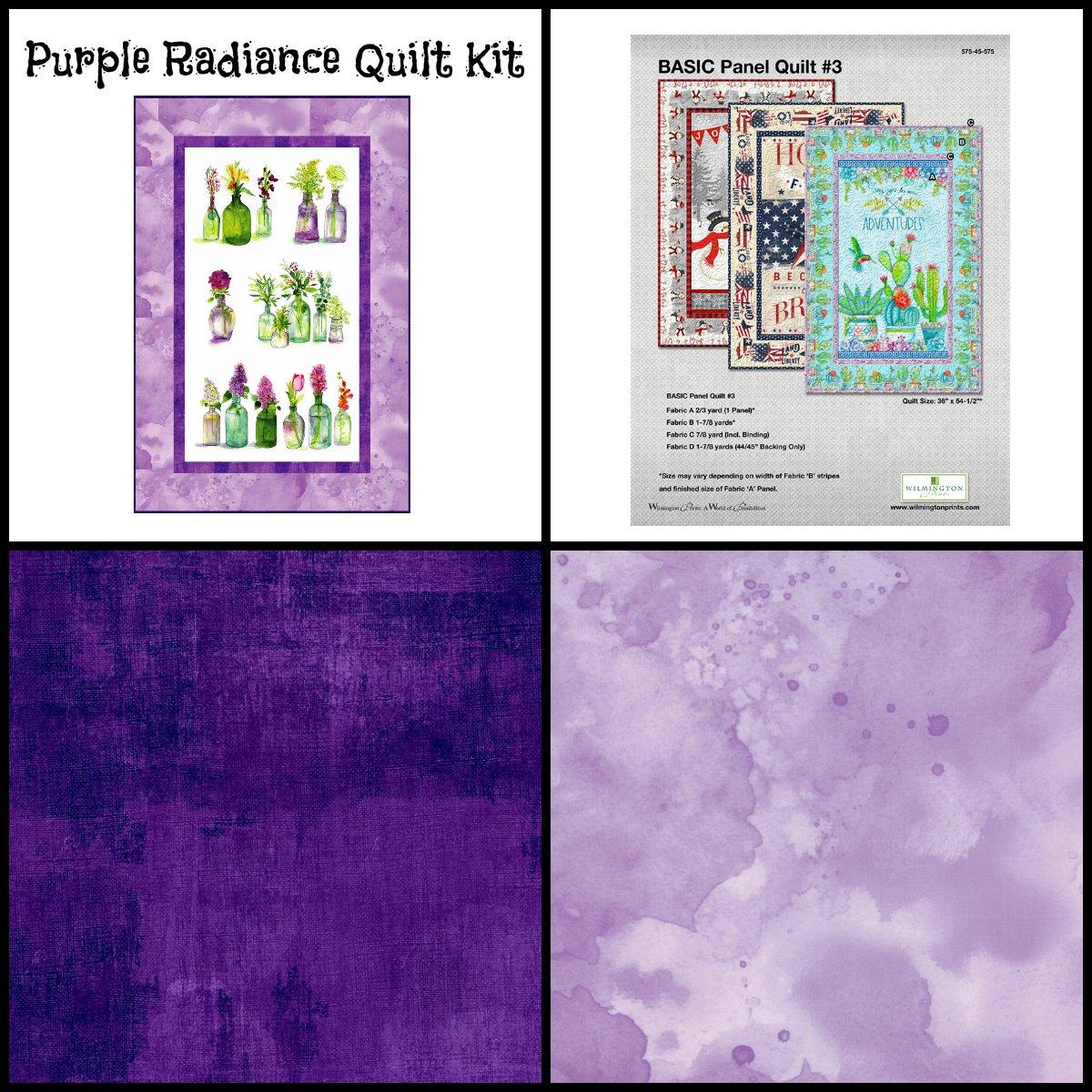Purple Radiance Quilt Kit (35 x 53.5)
