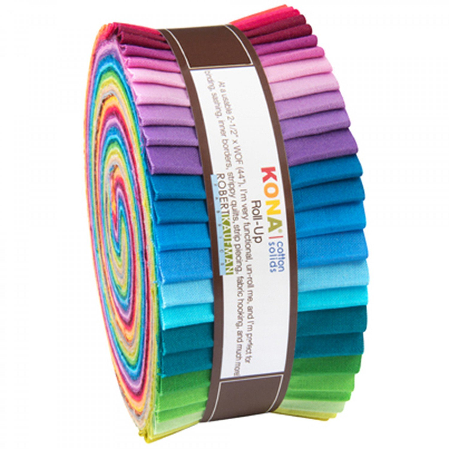 Kona Cotton 2014 New Colors 2.5 Jelly Roll - 40 pcs | Robert Kaufman