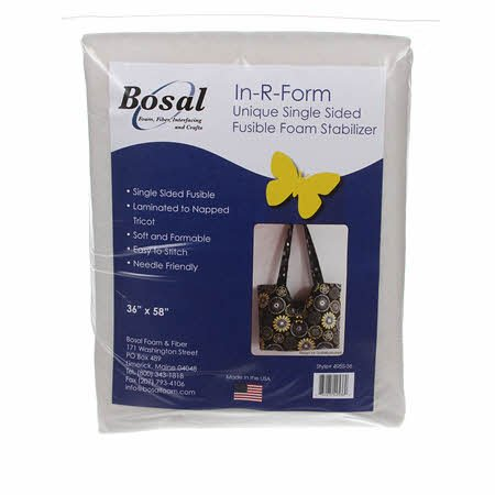Bosal In-R-Form Single Sided Fusible Foam Stabilizer 36 x 58 Off White