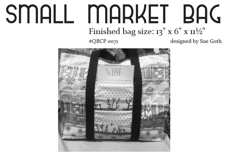 Small Market Bag Pattern | Quilt Basket Cutie Collection