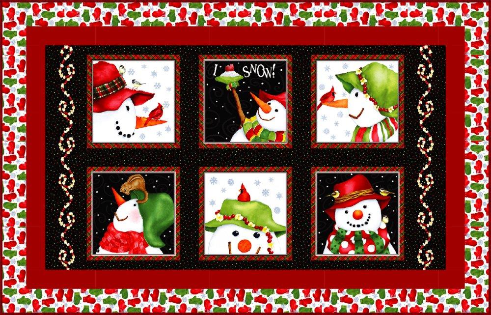Snowman Panel Flannel Quilt Kit (29 x 48)