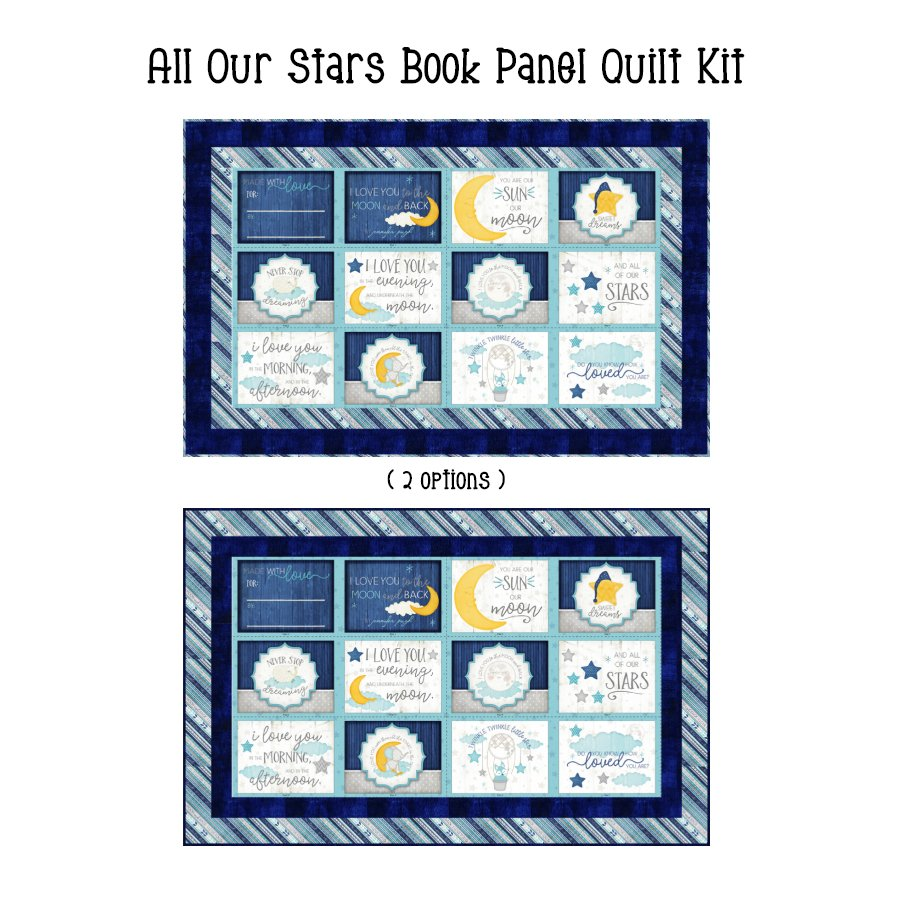 All Our Stars Book Panel Quilt Kit (48.5 x 30)