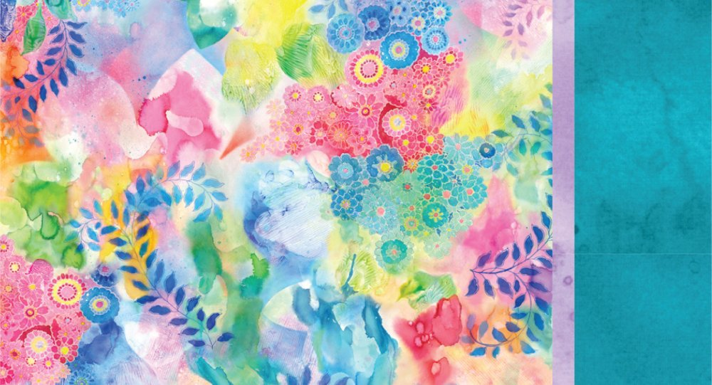 Roll & Sew Pillowcase Kit - Watercolor Flowers #2