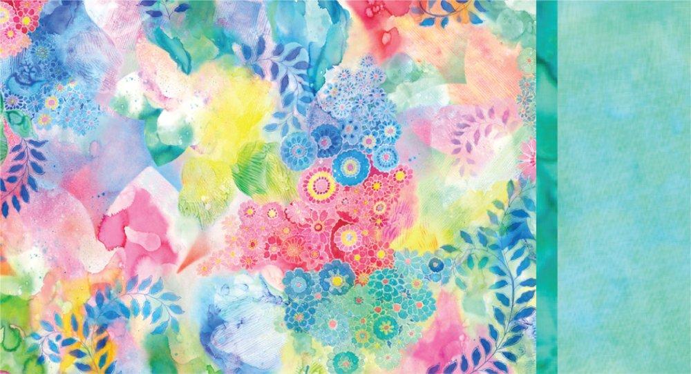 Roll & Sew Pillowcase Kit - Watercolor Flowers #1
