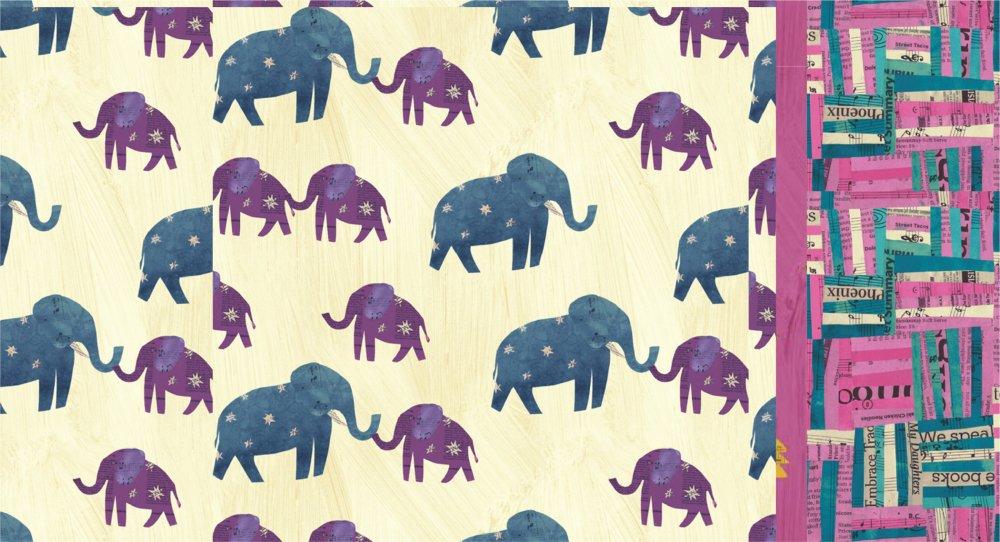Roll & Sew Pillowcase Kit - White Elephant Wish #1  (Directional)